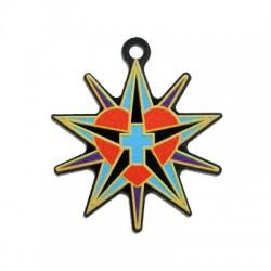 Πλέξι Ακρυλικό Μοτίφ Αστέρι Καρδιά Σταυρός 36mm