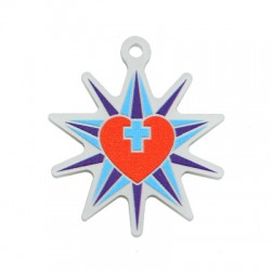 Πλέξι Ακρυλικό Μοτίφ Αστέρι Καρδιά Σταυρός 40mm