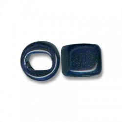 Enamel Ceramic Slider Round for Regaliz Leather 15mm (Ø 11x8mm)