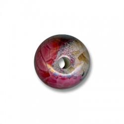 Enamel-Glazed Multi Color Ceramic Bead 22mm (Ø 4.5mm)