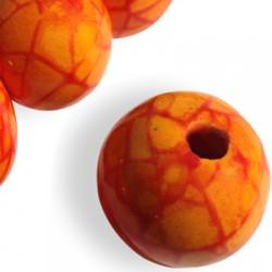Enamel Ceramic Crack Bead 36mm (Ø 5.5mm)