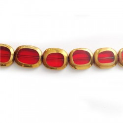 Glass Bead Rectangular Plated 12x14mm (~26pcs)