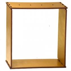 Ξύλινη Επιτραπέζια Κορνίζα για Γούρια 150x36mm (4τμχ/Σετ)
