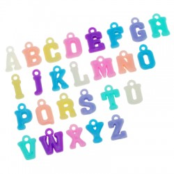 Acrylic Charm Letters Latin Alphabet 11mm