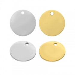 Stainless Steel 304 Charm Round 15mm/0.8mm