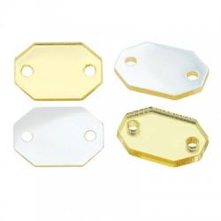 Plexi Acrylic Connector Octagon 15x9mm