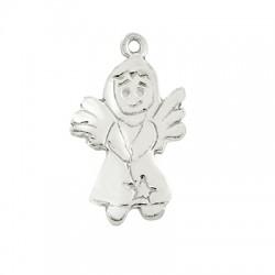 Silver 925 Charm Angel 20x13mm