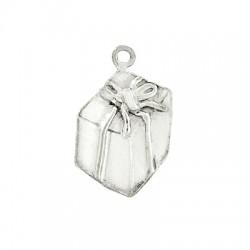 Silver 925 Charm Christmas Present 19x14mm
