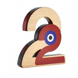 """Wooden w/ Plexi Acrylic Lucky Deco """"22"""" w/ Evil Eye 90x100mm"""