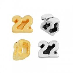 """Zamak Lucky Slider """"22"""" 7.5x6mm/3.2mm (Ø1.7x3.2mm)"""