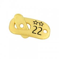 """Zamak T- Clasp Star """"22"""" 22x11mm"""