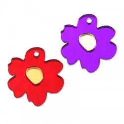 Plexi Acrylic Charm Flower 18mm