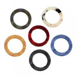 Plexi Acrylic Charm Round Frame Hollow 22mm