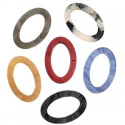 Plexi Acrylic Connector Oval Frame Hollow 17x25mm