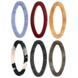 Plexi Acrylic Connector Oval Frame Hollow 15x32mm