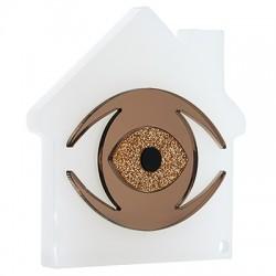 Πλέξι Ακρυλικό Επιτραπέζιο Σπίτι Μάτι 110mm