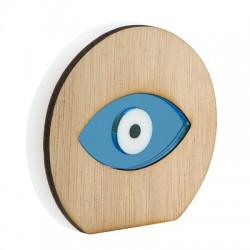 Ξύλινο με Πλέξι Ακρυλικό Επιτραπέζιο Μάτι 80x73mm