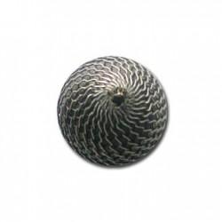 Ακρυλική Επιμεταλλωμένη Χάντρα με Δίχτυ 20mm