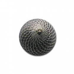 Perlina con Rettina in Argentone CCB 20mm