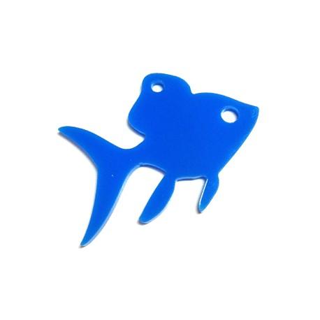 Πλέξι Ακρυλικό Μοτίφ Ψάρι 50x35mm
