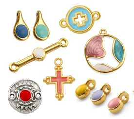 Various Pendants Charms Enamelled