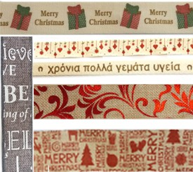 Plaid & Christmas Ribbons