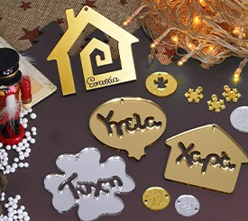 Plexi Acrylic Christmas Deco