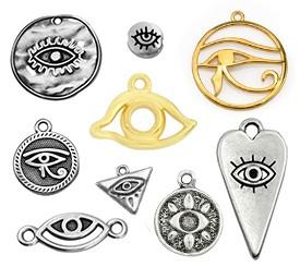 Occhi portafortuna metallici