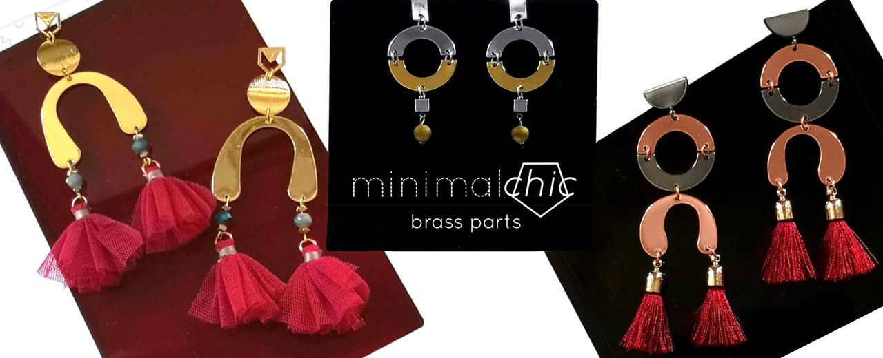 Minimal Chic | Brass Parts | Earrings Ideas